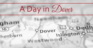 Map of Dover with the words a Day in Dover